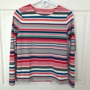 Talbots Petites Striped Pullover Tee